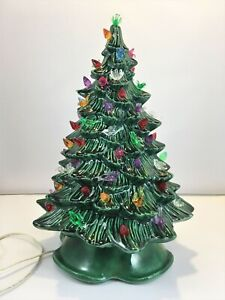 Details About Vintage Ceramic Christmas Tree Lights Birds Dhm 1988