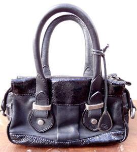 01b68f014d Tula By Radley Mini Grab Bag Soft Black Leather 20.5 x 13.5 x 6 cms ...