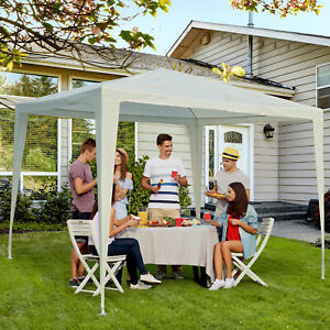Outsunny 9x9ft Event Shelter Party Gazebo Tent Portable White