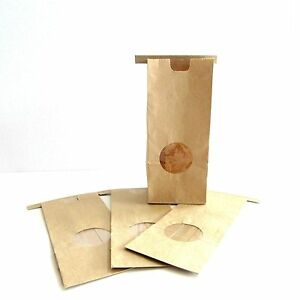 Set-of-10-Kraft-Paper-Bakery-Bags-Lined-Round-Window-Front-7-034-x-3-034-x-2-034