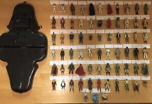 69 Original Kenner Star Wars Action Figures Set With Vader Case No Duplicates