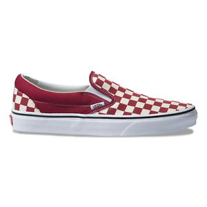 07c88563 Details about Vans Classic Slip On (Checkerboard) Rumba Red Skate Shoes  Mens Size 9.5
