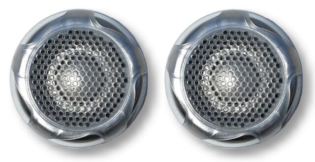 "Marinavox 1"" inch Titanium Dome Tweeter Speaker PAIR 60Wmax Stainless Spa Boat"