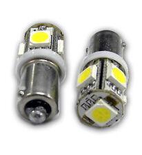 2pcs LED White BA9S 5 SMD 5050 LED Light bulbs 5-SMD T4W 1445 Q65B H6W 182 53 57