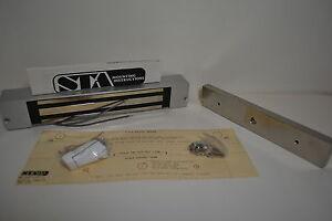 STA S T A ML200-12 MAGLOCK ELECTROMAGNETIC LOCK 650LBS 12 VDC OUTSWINGING DOOR