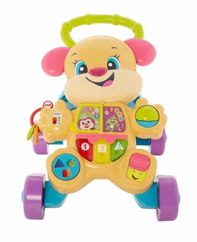 Fisher-Price FRD04 Lernspaß Hundefreundin Baby Gehhilfe Spielzeug Lauflernwagen