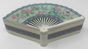 Hand Fan Jewelry Storage Box Flowers Floral Beautiful Trinket Keepsake Butterfly Ebay
