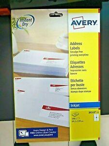 Avery Adress-Etiketten Etiketten weiß 99x139 100 Stück Inkjetdrucker Drucker