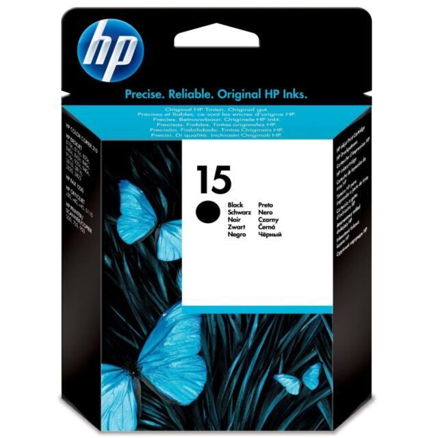 GENUINE OEM HP HEWLETT PACKARD BLACK PRINTER INK CARTRIDGE HP15 / HP 15 / C6615D