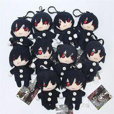 Anime Kuroshitsuji Black Butler Sebastian Mini Plush Stuffed Toy Keychain Clip