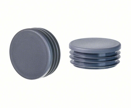 anthracite Round Plastic Blanking End Cap Caps Tube Pipe Inserts Plug