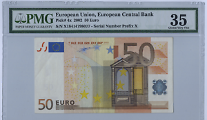 ECB 50 Euro Germany 2002 P-11x Choice VF PMG 35