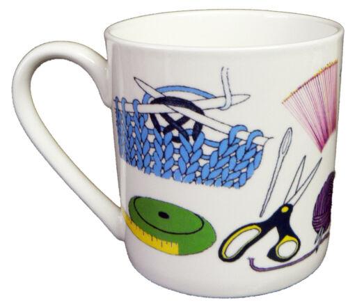 Knitting mug also personalised option Knitting design 1 pint bone china mug