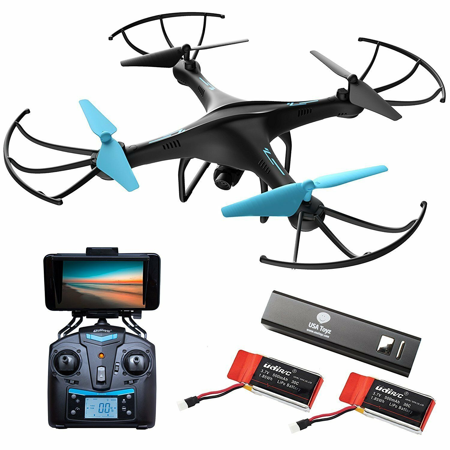 Force1 Drones With Camera  U45W-A Wi-Fi FPV Quadcopter bluee Jay With Camera SALE
