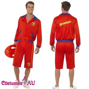 Mens Baywatch Beach Men/'s Lifeguard Short Jacket Licensed Costume Outfit