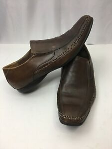 Mens-Steve-Madden-Brown-Leather-Upper-Rubber-Outsole-Slip-On-Loafers-Size-9-5