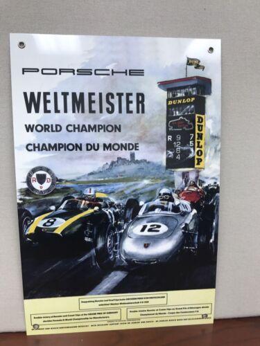 Grand Prix Nurburgring Formula One Racing Metal Reproduction Sign 18x12 Art