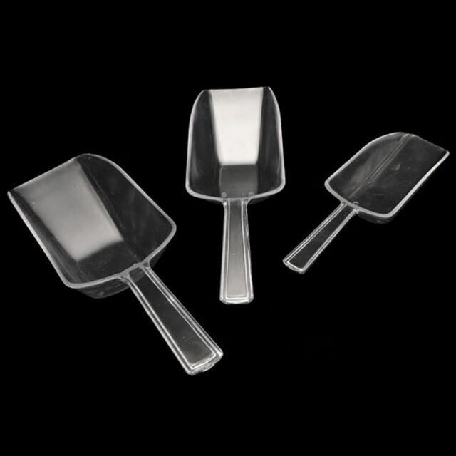 3pcs/Set Clear Plastic Scoop Bar Buffet Wedding Sweet Food Se Sugar Ice Bag G4A1