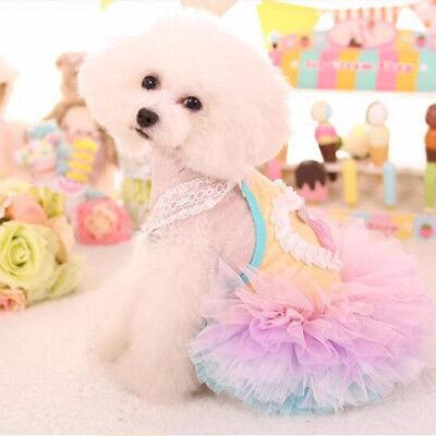 1set Dog Cat  Dress Lace Skirt Pet Puppy Dog Princess Costume Apparel Clothes