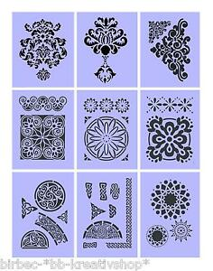 1 schablone efco stencils f r wand und textil mandalas. Black Bedroom Furniture Sets. Home Design Ideas