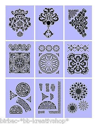 1 Schablone EFCO Stencils für Wand und Textil BUCHSTABEN ZAHLEN