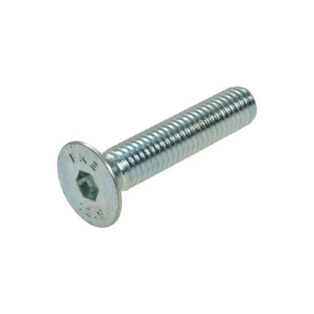 Pack Size 1 Zinc Plated Countersunk Socket M8 (8mm) x 40mm Metric Allen Screw