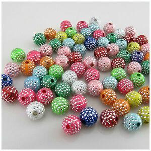 Acrylic Flat Star Beads 8mm Mixed 80 Pcs Art Hobby DIY Jewellery Making Crafts