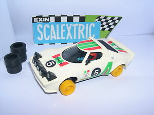 SCALEXTRIC EXIN C-4055 LANCIA STRATOS HF #5 WHITE 2º SERIES EXCELLENT CONDITION