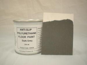 1 X 250ml Dark Grey Anti Slip Floor Paint Concrete Wood