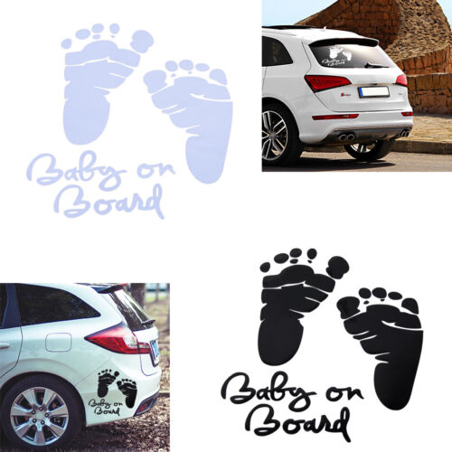 BABY On Board Adesivo Sticker AUTO STICKERS impronta piede impronta auto emblema