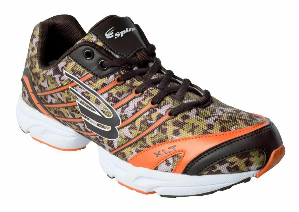 Spira Camo Performance Footwear- orange- New