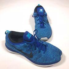 0effbeb20675 item 6 Mens Nike Flyknit Lunar 1 Royal Obsidian Blue 554887-440 Size 11.5  11 1 2  DL06  -Mens Nike Flyknit Lunar 1 Royal Obsidian Blue 554887-440  Size 11.5 ...