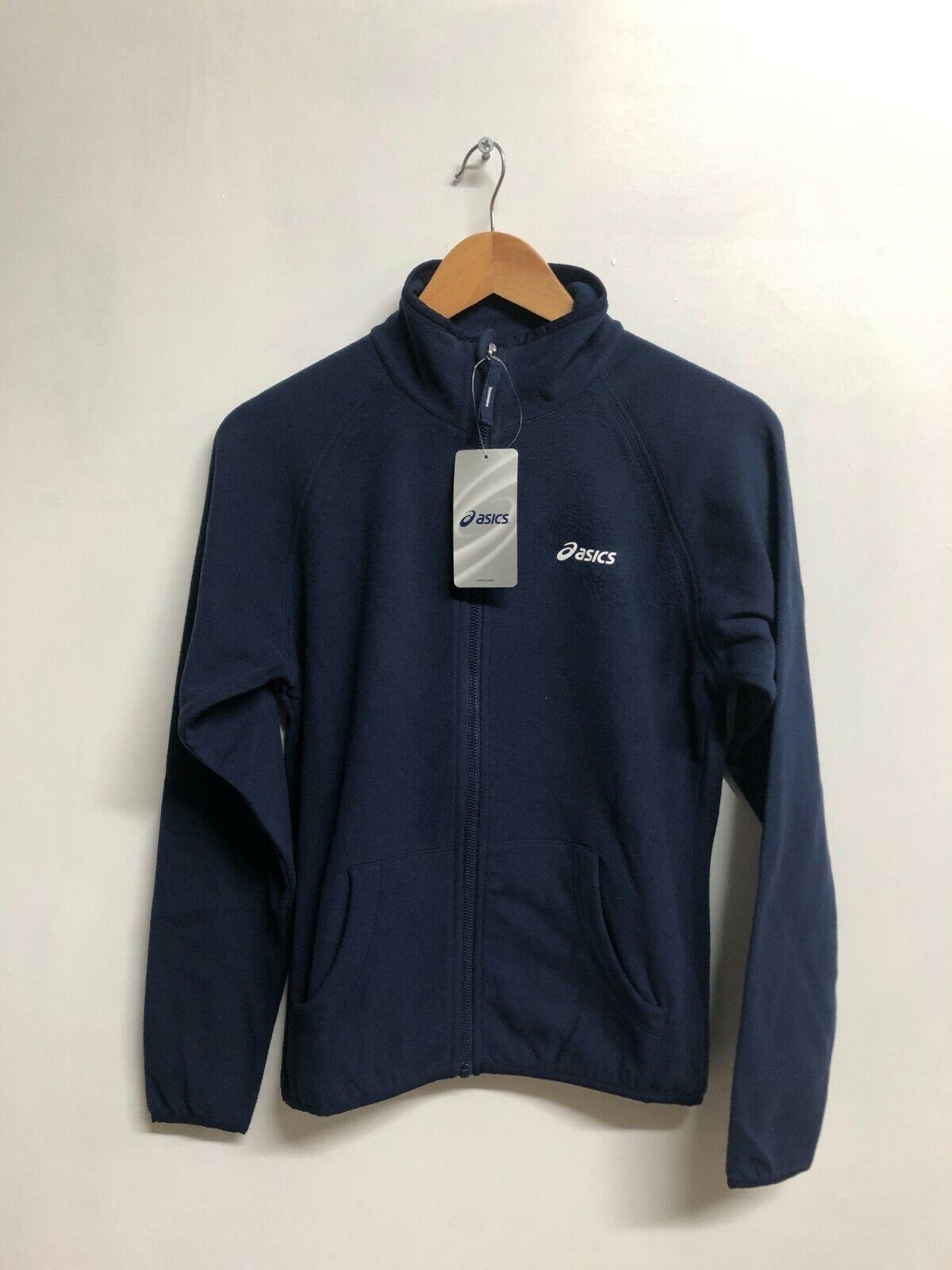 Asics Men's Polar Fleece Full Zip Sports Polar Fleece Jacket - Navy - New