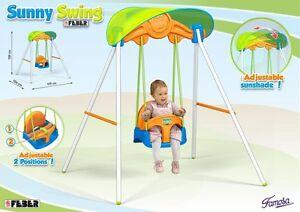 Altalena per bambini dondolo per bambini da giardino con parasole ebay - Dondolo da giardino bambini ...