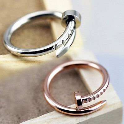 Fashion Simple Gold/Silver Alloy Nail Snag Shape Ring Rings Women Gift New
