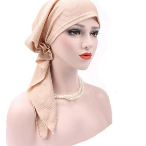 Women Muslim Hijab Cancer Chemo Hat Turban Cap Cover Hair Loss Head Scarf Wraps