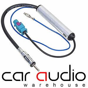 VW Transporter Amplified Booster Fakra - Din Aerial Antenna Adaptor Lead