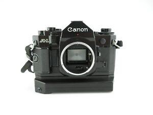 Canon-A-1-SLR-Spiegelreflexkamera-Power-Winder-A2-mit-Gurt-with-strap