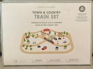 Pottery Barn Kids Town And Country Wooden Train Set 92
