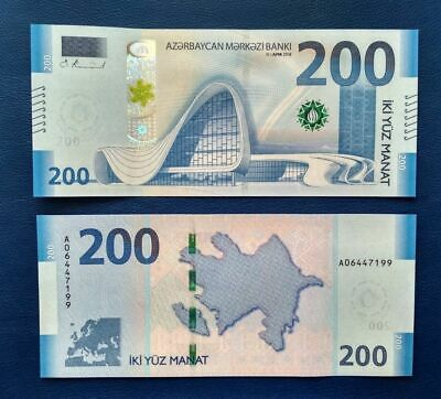 Azerbaijan 100 Manat 1993 UNC Prefix BA Asia Banknote Free Shipping Worldwide