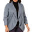 Karen-Scott-Cardigan-Sweater-Plus-Size-2X-Open-Front-Cocoon-Blue-New thumbnail 1