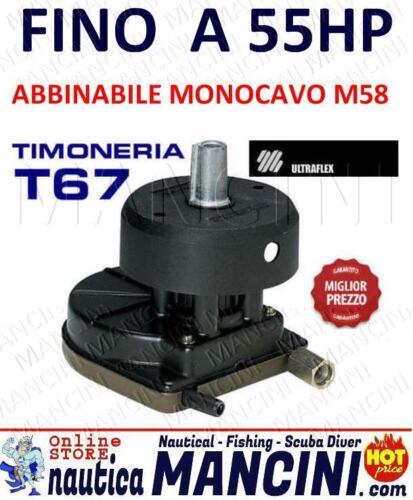 TIMONERIA ULTRAFLEX T67 PER MONOCAVO M58 PER FUORIBORDO FINO A 55CV MOTORE BARCA