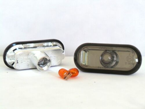 BLACK SMOKED SIDE MARKER INDICATOR LIGHT REPEATERS FOCUS 3 2004 ON /& C-MAX BULBS