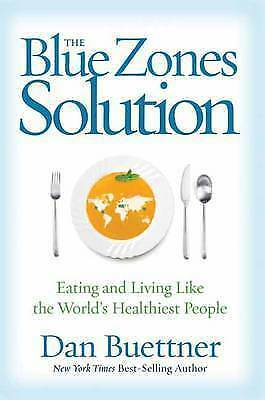 1 of 1 - The Blue Zones Solution..BUETTNER..HARDCOVER..AS NEW   lnf535