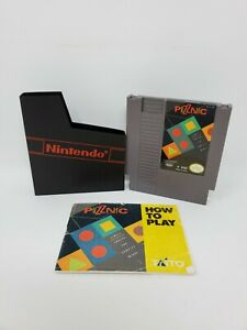 Puzznic (Nintendo Entertainment System, 1990) Manual Cartridge Tested and Works