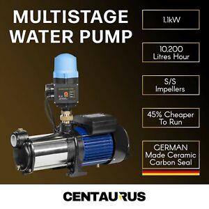 10-200LPH-Multi-Stage-Water-Pump-Pressure-Rain-Tank-Garden-Farm-House-Irrigation