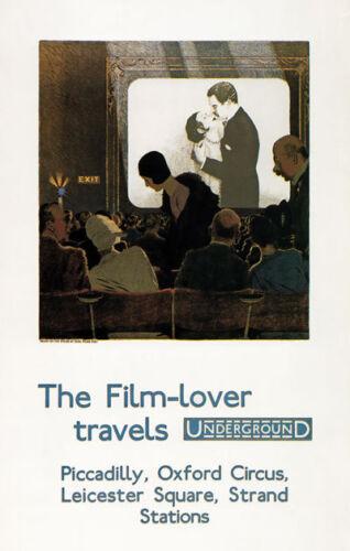 TX133 Vintage Film Lover Travels Underground Railway Travel Poster Re-Print A3