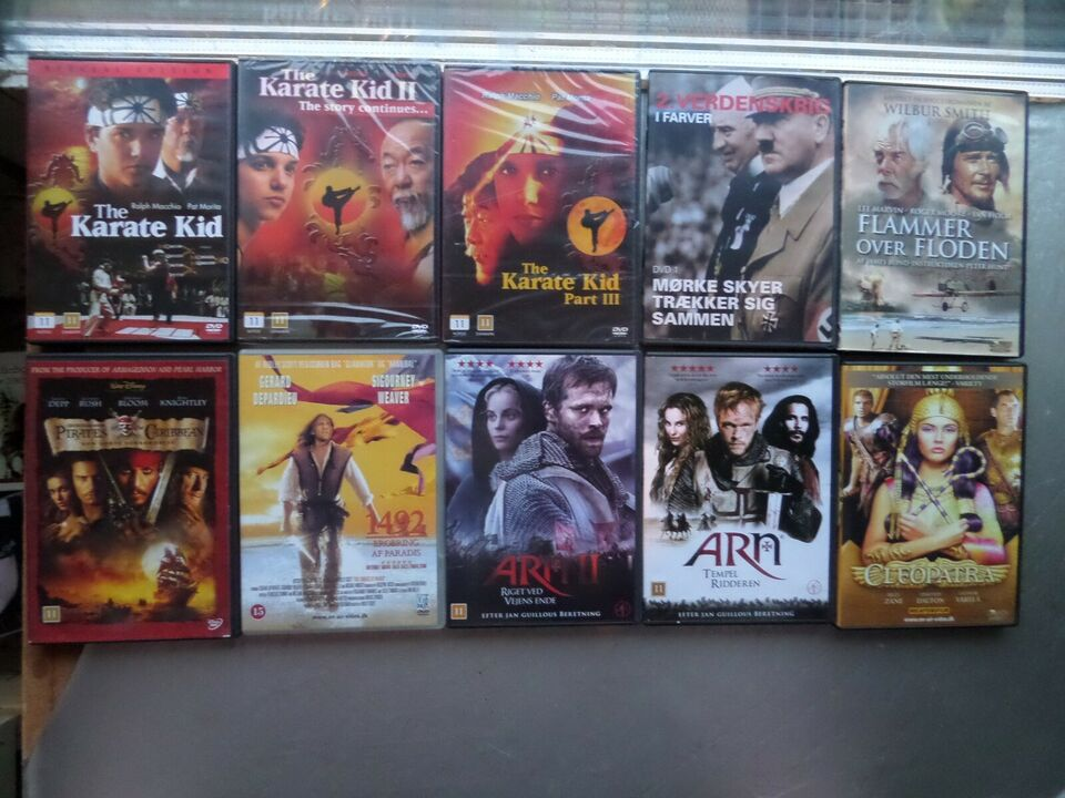 EVENTYR FILM BLA. KARATE KID, DVD, karatefilm