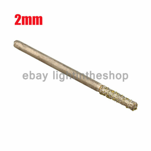 20 Pieces Diamond Coated Drill BIT Hole Saw Cutter Tile Glass Jewellery 1mm// 2mm