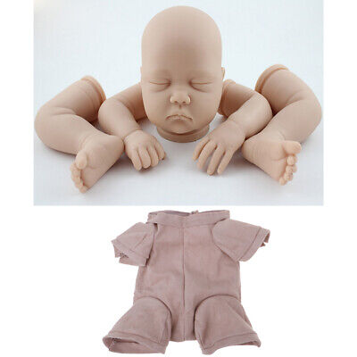 "Real Looking Vinyl 20/"" Reborn Doll Kit Baby Boy Mold Blank Limb Body Belly"